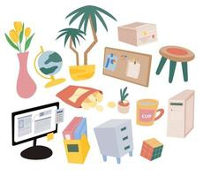 Things for the home office. vector