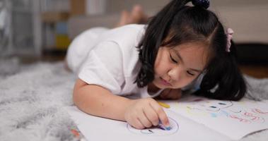 Girl Enjoying Painting on Drawing Paper video
