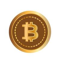 3d bitcoin crypto currency. vector illustration