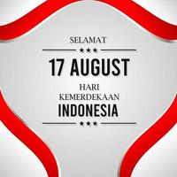 Indonesia's 17 august independence celebration vector
