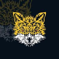 Wolf head design vector