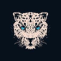 Leopard head design vector