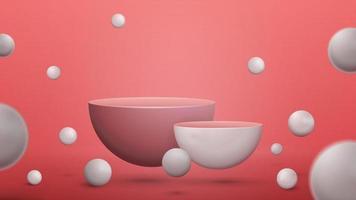 Abstract scene with empty semicircular pedestals vector