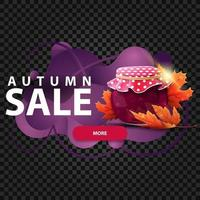 Autumn banner in the form of lava lamp with jar of jam vector
