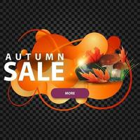 Autumn banner in the form of lava lamp with mushrooms vector