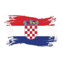 Croatia Flag With Watercolor Brush style design vector Illustration