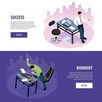 Professional Burnout Banners Vector Illustration