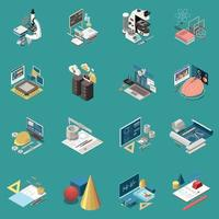 STEM Education Concept Icons Vector Illustration