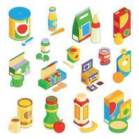 Conjunto de iconos de comida para bebés ilustración vectorial vector