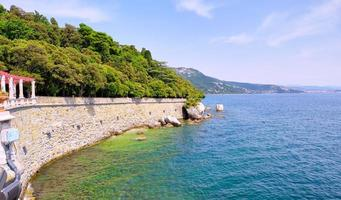 View of the shores of the Adriatic Sea, in Trieste, Northern Italy, photo