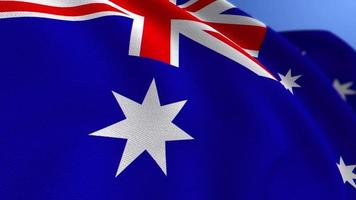 agitant le fond de boucle d'animation du drapeau national de l'australie video