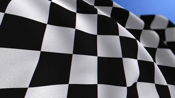 WAVING CHAMPIONSHIP CHECKERED FLAG ANIMATION LOOP BACKGROUND video