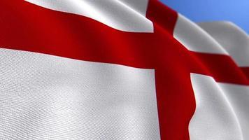 WAVING ENGLAND NATIONAL FLAG ANIMATION LOOP BACKGROUND video