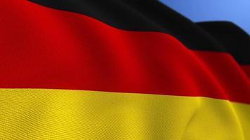 WAVING GERMANY FLAG ANIMATION LOOP BACKGROUND video