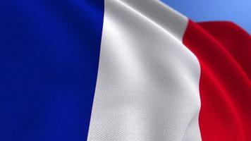 agitant le fond de boucle d'animation du drapeau national france video