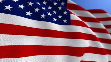 WAVING UNITED STATES OF AMERICA FLAG ANIMATION LOOP BACKGROUND video
