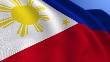 WAVING PHILIPPINES NATIONAL FLAG ANIMATION LOOP BACKGROUND video