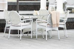 white wicker rattan furniture photo