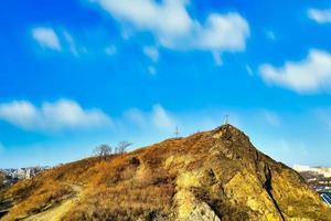 Mount Krestovaya against the blue sky. Vladivostok, Russia photo