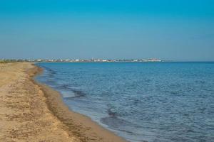 Seascape. Sandy beach in the vicinity of Yevpatoria photo