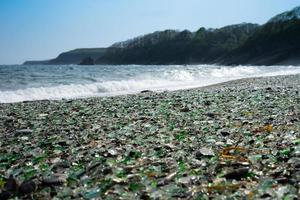 Glass beach in Vladivostok. photo