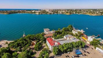 aerial photography of the urban landscape of Sevastopol photo
