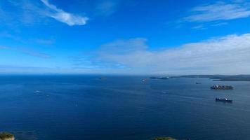 Seascape in the Eastern Bosphorus Strait. Vladivostok photo