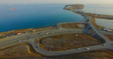 Aerial overview of the track Sedanka-Patroclus. Vladivostok, Russia photo