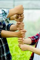 unity, teamwork unity group unity of mind power Put your hands photo