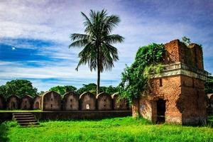 A ruin historical red fort, photo