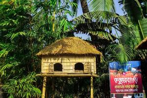 Sonargaon, Bangladesh, Feb, 2019 - Pigeon house during the day photo