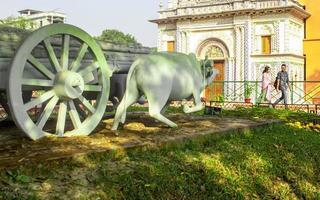 Sonargaon, Bangladesh, Feb, 2019 - Traditional cow statue photo