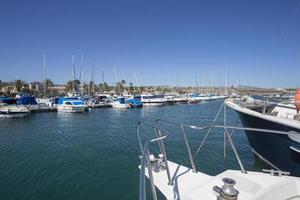 sailing boats in harbor-gran canaria photo