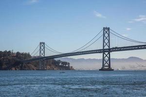 Bay Bridge at sunrise, San Francisco photo