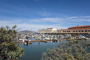 A view of Fort Mason from across the bay, San Francisco photo