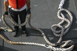 Dock operator seen from above photo