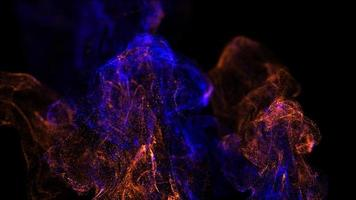 Beautiful colorful particles or smoke abstract background video