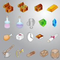 Icon Game Assets vector