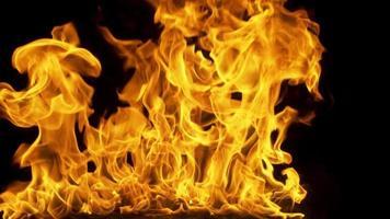efeito de fundo de fogo para elementos de filmes de ação video