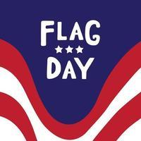 Vector illustration of Flag day