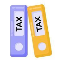 aglutinantes y aglutinantes de impuestos vector