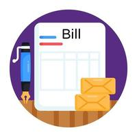 Bill and Document vector