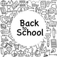 Back to School Doodle Background vector
