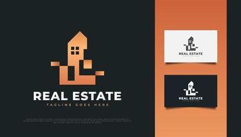Abstract Luxury Real Estate Logo Design vector