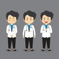 Doctor Character with Various Expression vector