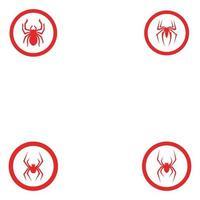 Spider symbol vector icon