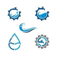 plumbing logo Vector icon design illustration