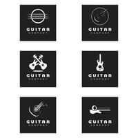 Cross Guitar Music Band Emblem Stamp Vintage Retro logo design vector