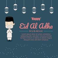 Id al-Ad-ha mubarak islamic vector