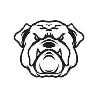 dibujo de cara de perro vector